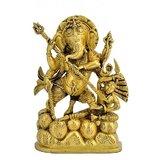 Redbag Lord Ganesha Killing Demon Rare 8 Inch Brass Statue BS - 4455 For Worship