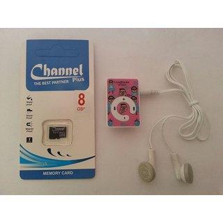 Mini mp3 player ipod+8gb mmry card free
