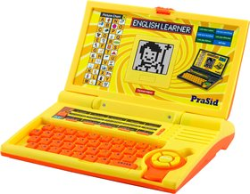 Prasid English Learner Kids Laptop 20 Activities Lemonorange