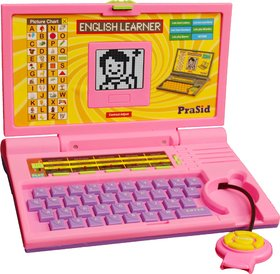 Prasid English Learner Kids Laptop 20 Activities Pinkpurple
