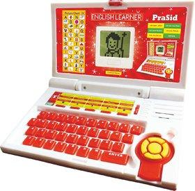 Prasid English Learner Kids Laptop 20 Activities Red
