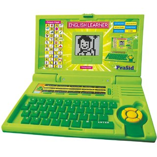 Prasid English Learner Kids Laptop 20 Activities Green