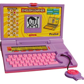 Prasid English Learner Kids Laptop 20 Activities Purplepink
