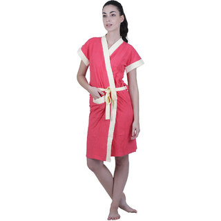 Vixenwrap Punch Pink Solid Water Absorbent Cotton Bathrobe