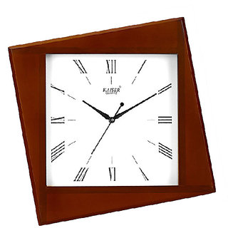 Kaiser Square Cola Brown Wooden Clock