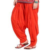 Orange Full Patiala Salwar - Aashish Fabrics