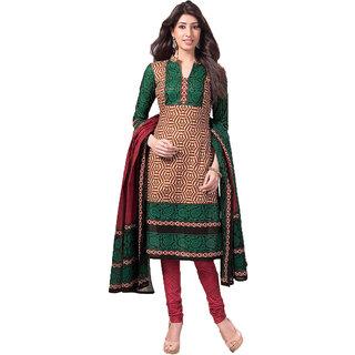 Artistic Semi-stitched Salwar Suit Dupatta Material