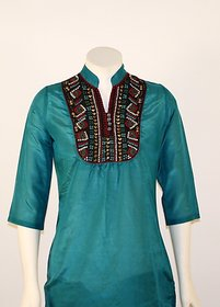 Turq Embellished Tunic (Turq)