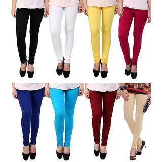 Stylobby Multi Color Legging Combo Of 8