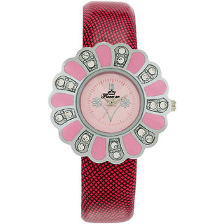 Florence FL-PK-F-056 Pink Dial Analog Watch For Women