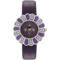 Florence FL-PUR-F-056 Purple Dial Analog Watch For Women