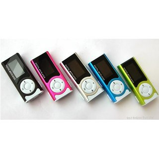 LCD Screen Mini Mp3 player with Clip flashlight Support Micro SD TF