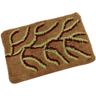 High-Class Belle Maison 100% Cotton Beautiful Bath Mat, Yellow