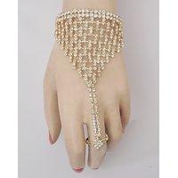 Bracelet With Finger Ring
