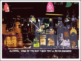10 am Alcohol Clock- Acrylic