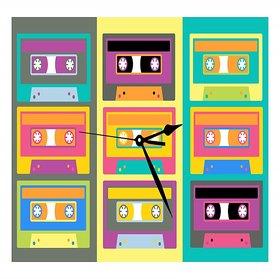 10 am Cassette Clock- Acrylic