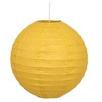 Skycandle.in 12 Inch Even Round Paper Lantern (Yellow) - 1 Piece