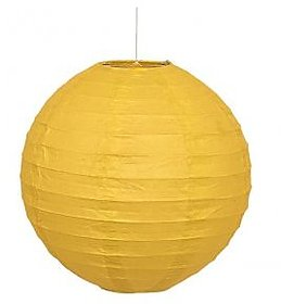 Skycandle.in 12 Inch Even Round Paper Lantern (Yellow)