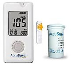 Accu Sure Gold Blood Glucose  Monitor with 50 Strips Combo -  Combo of 5