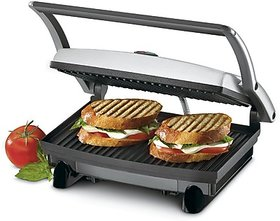 Nova 2 Slice Sandwich Grill Maker (Black,Steel)