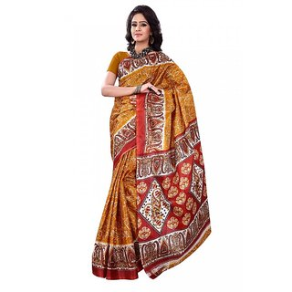 Florence Multicolor Art silk Printed Saree (FL-1329-G)