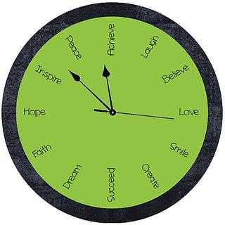 10 am Inspiration Clock(Green)- Acrylic