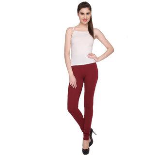 Valentine Casual Cotton Lycra Red Churidaar Leggings
