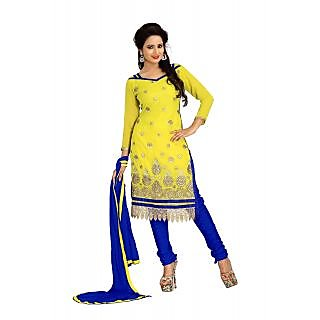 Vardhman MAHEK  Yellow Georgette unstitched Straight Salwar Suit Dress Material