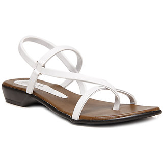 Hansx Women's White Sandals