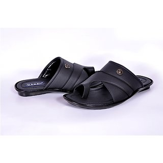 Hansx Men's Black Velcro Floaters