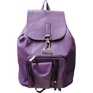 Women Purple backpack bag