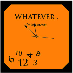 10 am Whatever Clock- Acrylic