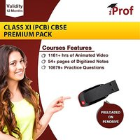 Class 11 (PCB) CBSE Premium Pack On Pen Drive