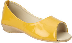 Yellow Color Peep Toe Belly