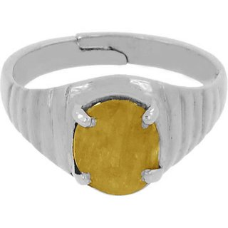 4.25 Ratti Yellow Sapphire Ring In Sterling Silver