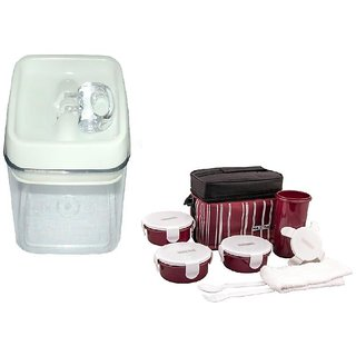 Easy Lock Airtight Container 0.8L With NAYASA LUNCH BOX TOASTY