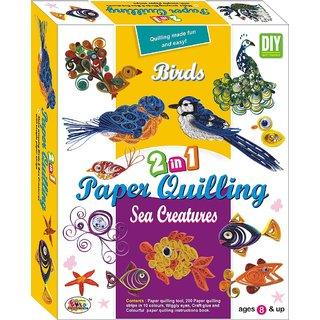 Ekta Paper Qualling 2in1 Birds and Sea Creatures