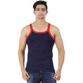 a93a2251c2f Buy Zippy Men s Vest Cotton Solid Romeo Dark Blue Sleeveless Gym Vest  Online   ₹136 from ShopClues