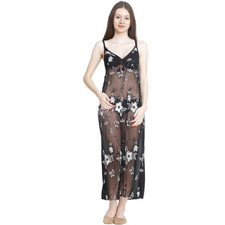9e2a6b9007 Buy Freely Transparent full nighty with Robe - TRPFN-11 Online - Get 40% Off