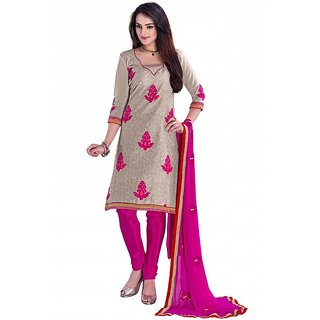 Rebel creations ROYAL CLUB CHANDERI BRIGE-PINK dress materials