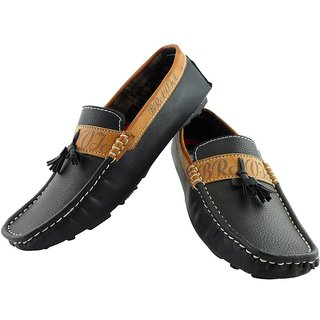 Elvace Black Bravish Loafer Men Shoes-6012