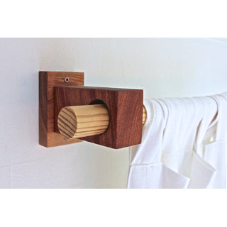 Modern Wood Curtain Rod Holders