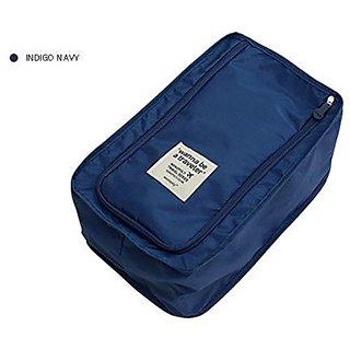 Connectwide Waterproof Travel footwear organizer- Neavy Blue