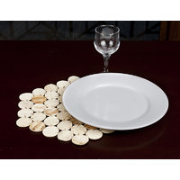 Rope Tropical Areca Leaf Natural Table Mats - Set Of Six