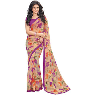 Branded Designer Chiffon Lace Border Catalog Saree