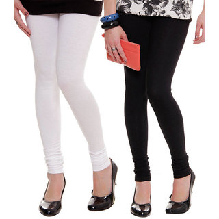 Black And White Cotton Legging - Combo Of 2