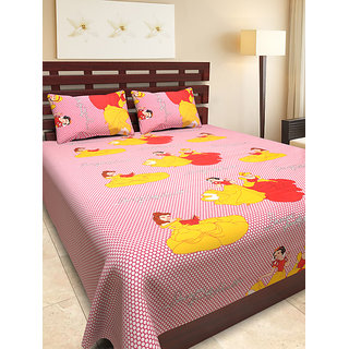 745f348c93 100% cotton casement double bed sheet with 2 pillow covers - Bajaj Pari
