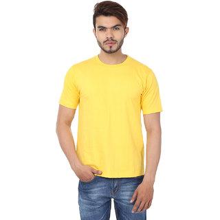 Weardo Plain Yellow Crew Neck T-Shirt