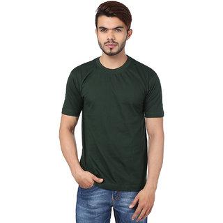 04181932d Buy Weardo Plain Bottle Green Crew Neck T-Shirt Online - Get 54% Off