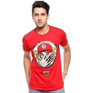 Trendmakerz Men's Red Round Neck T-Shirt